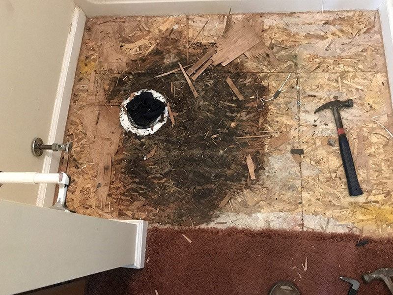 flange and floor replacement